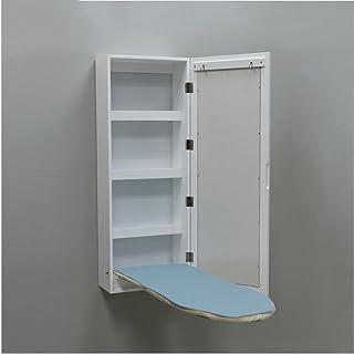 FEI Soporte de Tablero de Planchar montado en la Pared Tablero de Planchado de Pared Plegable Tabla de Planchar Armario Blanco W35.5 * D17.5 * H95cm