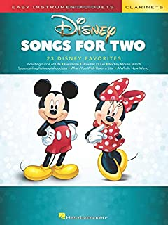 Disney Songs for Two Clarinets: Easy Instrumental Duets