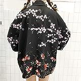 SYXYSM Última Moda De Corea del Verano Mujer Japonesa Kimono Haori Cardigan Capa De La Chaqueta Delgada Yukata Orientales Trajes De Protección Solar (Color : Color3, Size : One Size)