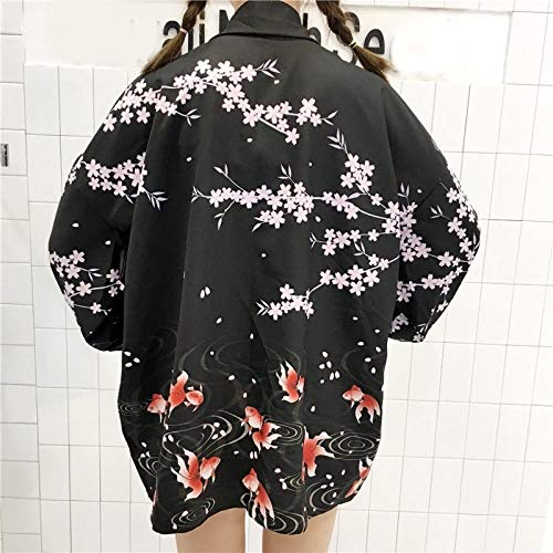 FWJSDPZ Última Moda Coreana Verano Mujer Japonesa Kimono Haori Cardigan Chaqueta Thin Sun Perrero Abrigo Yukata Trajes Orientales (Color : Color3, Size : One Size)