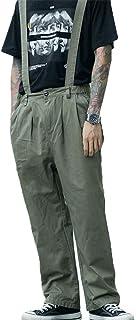Jeans Fashion Casual Uomo Allentato Denim Salopette Sling Staccabile,Verde,M