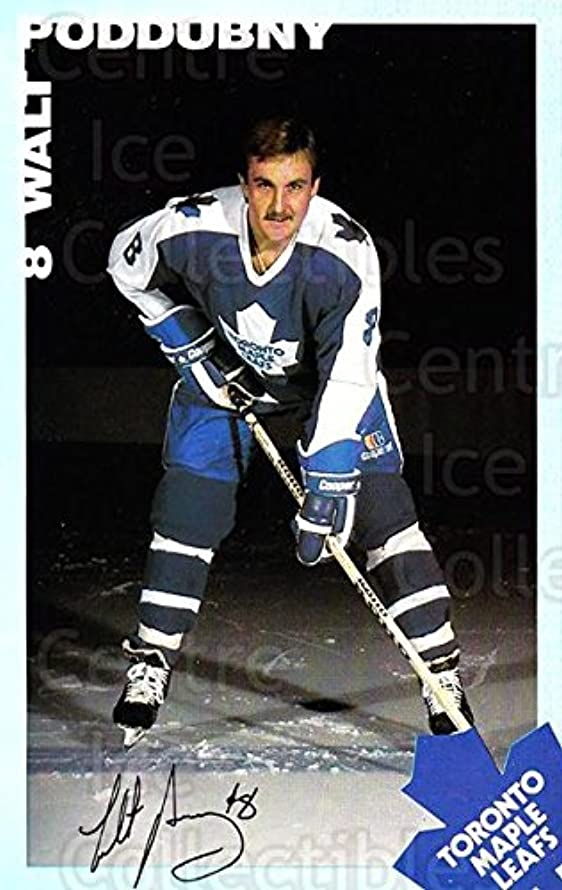 (CI) Walt Poddubny Hockey Card 1983-84 Toronto Maple Leafs Postcards 21 Walt Poddubny