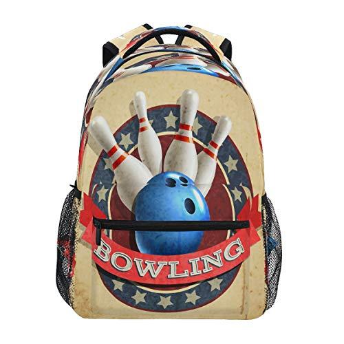 XIXIKO Sac à dos de bowling avec motif balle de...