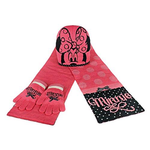 Minnie 2200000343 - set met sjaal en muts en handschoenen voor kinderen, roze, eenheidsmaat