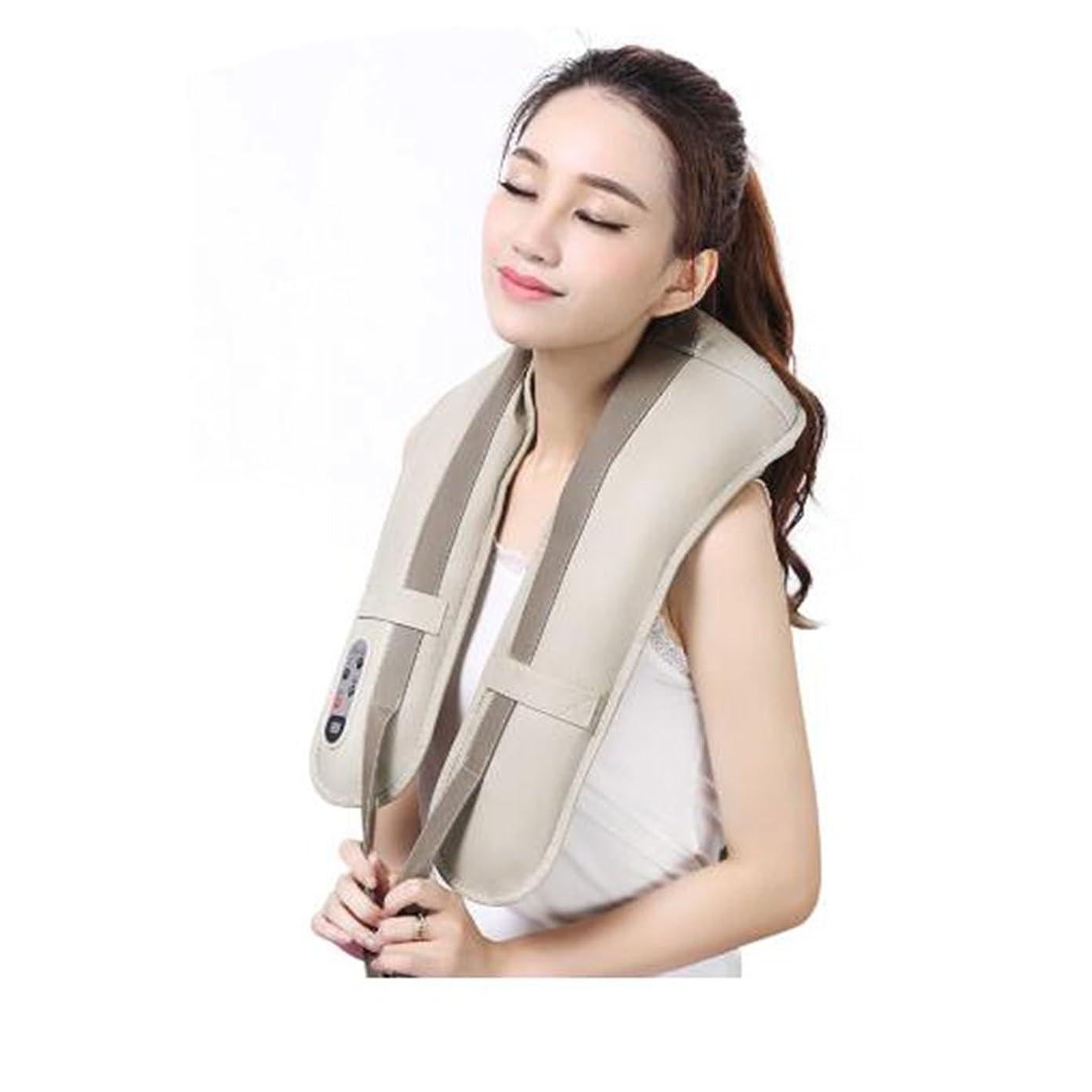 被る放送ぺディカブホットネックマッサージャーポータブル電気パーカッション頸部マッサージショールの痛みの首と肩の多機能タップマッサージャー (色 : A)