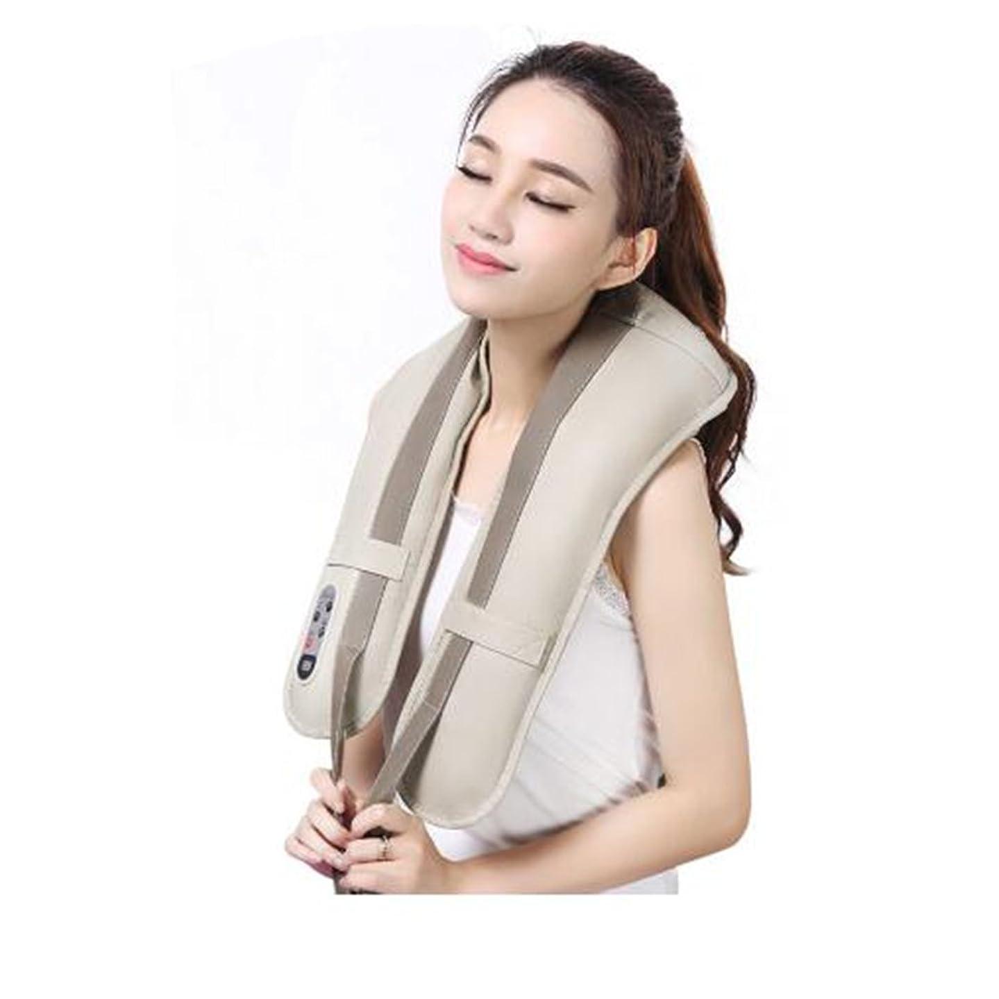 薬用自己ノーブルホットネックマッサージャーポータブル電気パーカッション頸部マッサージショールの痛みの首と肩の多機能タップマッサージャー (色 : A)