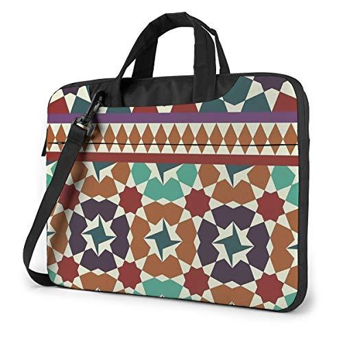 Alhambra Teselations - Bolso Bandolera para Ordenador portátil, Color