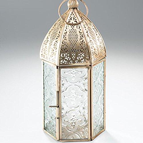 Namaste Lanterne de style marocain Laiton antique Taille moyenne
