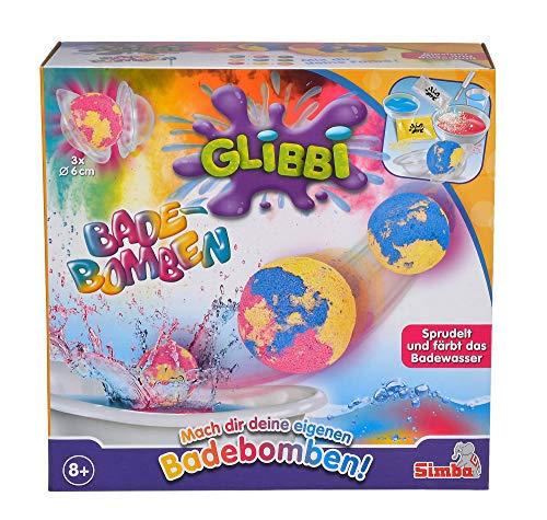 Simba 105953390 Glibbi Badebomben Maker, rot/gelb/blau