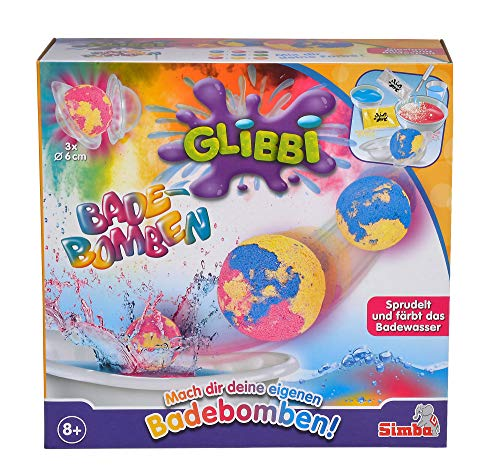 Simba 105953390 Glibbi Bombe de Bain Rouge/Jaune/Bleu