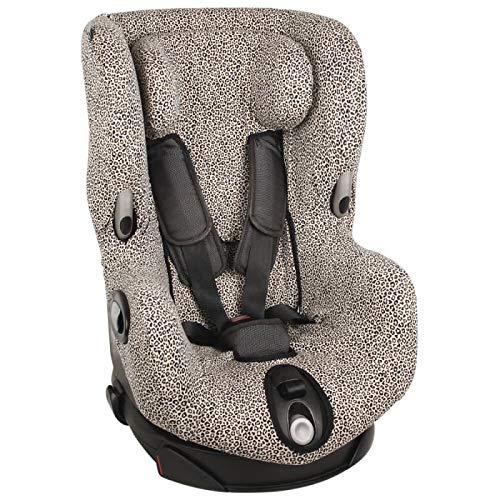 Axiss Bebe - Funda para asiento de coche para Maxi Cosi Axiss Bebe Confort Axiss, accesorio indispensable para mayor comodidad, algodón Oeko-Tex certificado leopardo