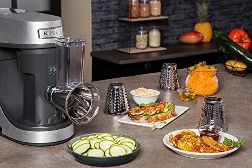 Krups KA631D11Master Perfect Gourmet Küchenmaschine (1100 Watt, Gesamtvolumen: 4,6 Liter, inkl.: Back-Set, Schnitzelwerk, Fleischwolf, Delica Tool, Flex Bowl, Flex Whisk) silber - 5