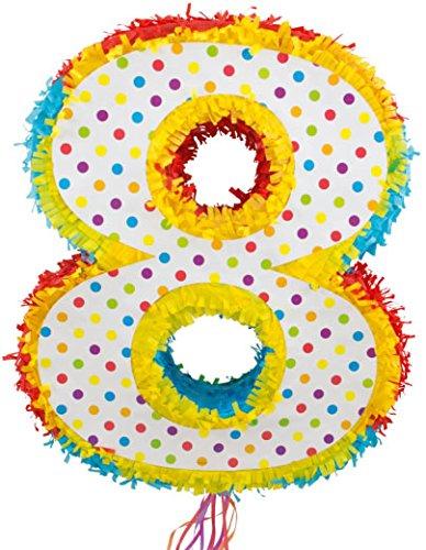 Folat 60948 Piñata Zahl 8 für den 8. Kindergeburtstag