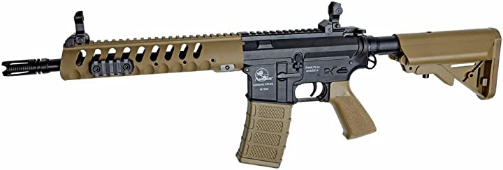 Fucile da assalto softair asg fucile da airsoft-m4 cqb tan/black-armalite-1 joule-(18483) B01LWTWQI6