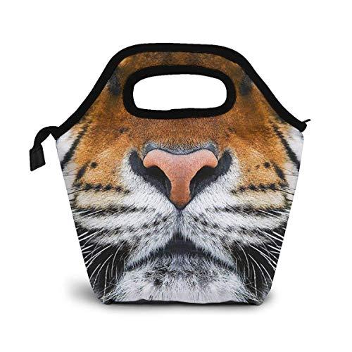 Fiambrera con aislamiento para hombres, mujeres, impermeable, bolsa de asas, nevera, picnic, bolsa fresca Tiger Face