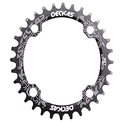 Anillo ovalado de cadena de aluminio MTB marca Grofitness para reparar bicicletas, negro, Oval 32T