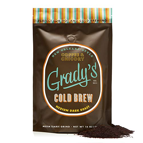 Grady's Cold Brew Coffee, 16oz. Coarse Ground Coffee, 24 Total Servings