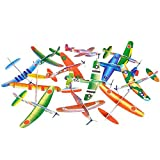 Big Mo's Toys 24 Pack 8 Inch Glider Planes - Birthday Party Favor Plane, Great Prize, Handout / Giveaway Glider, Flying Models, Two Dozen