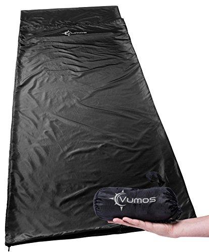 Vumos Sleeping Bag Liner and Camping Sheet – Silk Like Material for Travel - Has Full Length...