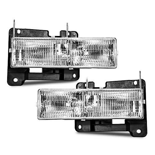 Epic Lighting OE Style Replacement Headlights for 1990-2002 Chevrolet GMC C10 K10 Blazer Yukon TahSuburban C10 K10 [ GM2502101 GM2503101 15034929 15034930 ] Left Driver & Right Passenger Sides Pair