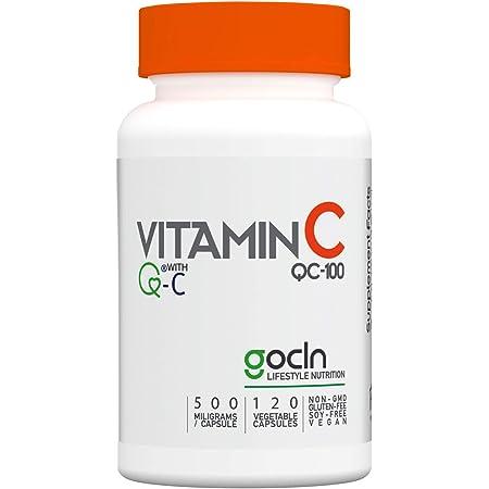 GoCLN 高純度 ビタミンC (Quali C 100%) - 国内製造 Vitamin C 1140mg 60日分 120 カプセル - Manufactured in Japan featuring Q-C 100% (Quali C) - No other added ingredient, 100% purity.