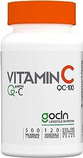 GoCLN 高純度 ビタミンC (Quali C 100%) - 国内製造 Vitamin C 120 カプセル - Manufactured in Japan featuring Q-C 100% (Quali C) - No other a...