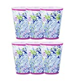 Lilly Pulitzer 14 Ounce Reusable Plastic Pool Cups, Set of 6 (Lion Around)