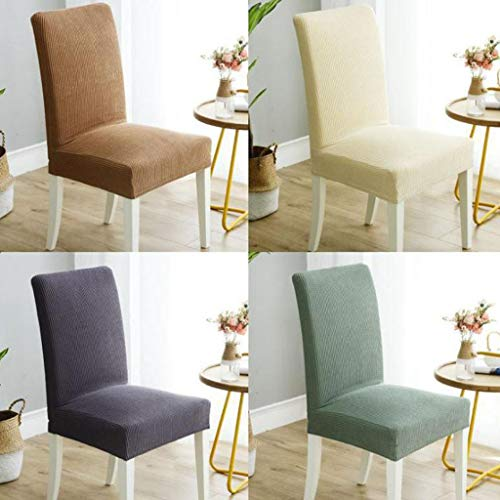 Jamicy  Funda de silla universal elástica para sofá, funda de sofá, para restaurante, boda, banquete, mesa de comedor, juego de silla de casa, funda de taburete (B)
