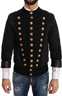 Bomber Black Brocade Jacket Coat