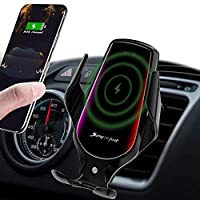 ✔【Smart Automatic Sensor Design】Automatic opening and clamping design which can be operated with one hand and make everything easier and safer. Just place your phone inside the holder, the clamps will close and provide a strong stable hold. A gentle ...