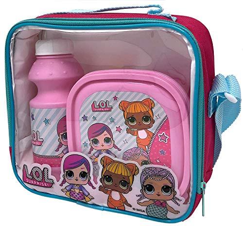 L.O.L. Verrassing. Kinderen 3-delige Lunch Bag Box en Fles Set voor School Food Travel Snacks