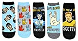 Star Trek Spock Trek Yourself Before You Wreck Yourself Juniors/Womens 5 Pack Ankle Socks
