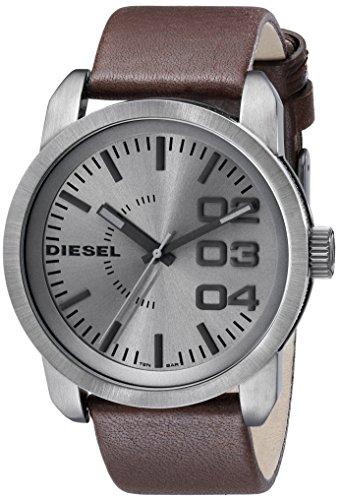 Relógio masculino Diesel DZ1467 com mostrador analógico de quartzo marrom
