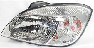 Headlight Assembly Compatible with 2006-2008 Kia Rio Rio5 Halogen Hatchback/Sedan Driver Side
