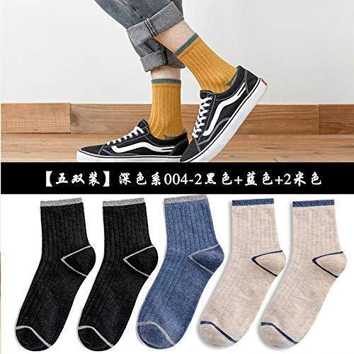 HAOYUN Calcetines Medias de Hombre en Tubo otoño e Invierno de Hombre Desodorante de Tubo Largo Baloncesto Deportes Tendencia Calcetines