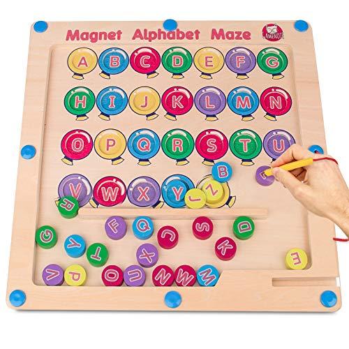 Gamenote Magnetic Alphabet Maze Board