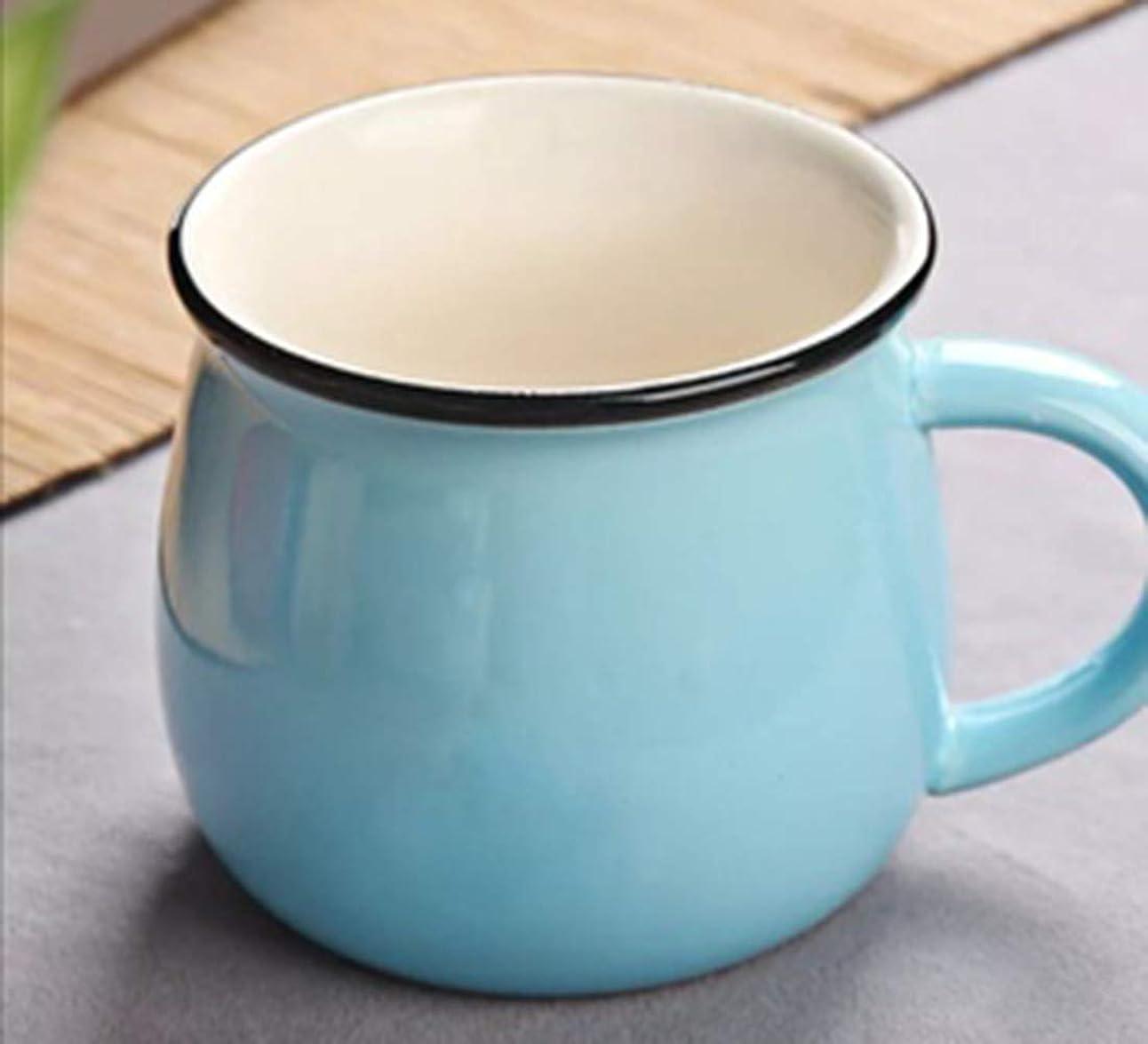 ハイライトにじみ出る情緒的セラミックカップマグカップカップルカップ朝食カップミルクカップコーヒーカップ水カップ子供カップ複数色小容量 (水色)