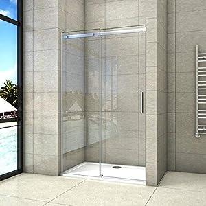 120x195cm Mamparas de ducha puerta de ducha 8mm vidrio templado de Aica