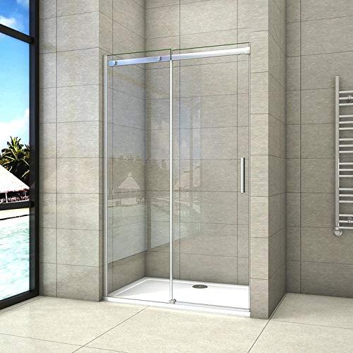 120x195cm Mamparas de ducha puerta de ducha 6mm vidrio templado de Aica