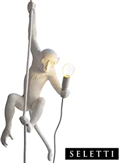 Seletti Monkey Lamp - Hanging with rope White