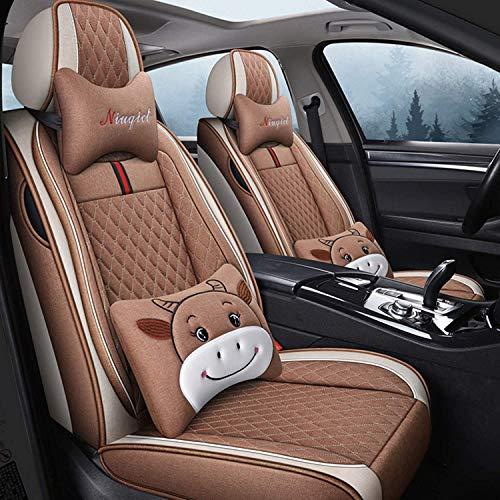 Ajuste para Acura-ILX RDX RL RLX TL TLX Funda de Asiento de Automóvil, Cubierta de Asiento de Automóvil de Lino, un Conjunto Completo de Cubierta de Coche Transpirable Universal,C