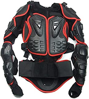 Size XXL red Motorcycle Parts Full Body Protective Jacket Spine Chest Gear Armor Off Road Protector Motorcross Racing Clothing Fit For 1999 2000 2001 2002 2003 2004 2005 2006 Suzuki HAYABUSA/GSXR1300 2007