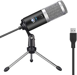 FMOGE Micrófono De Computadora USB Reproducir Voz En Vivo Micrófono De Chat Grupal,Micrófonos Inalámbricos