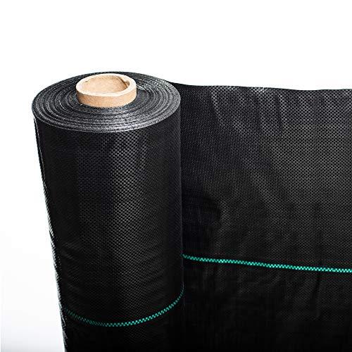 Notek Telo Professionale per pacciamatura Anti Alga/Erbacce in Polipropilene 110cm x 40m - 100gr/mq