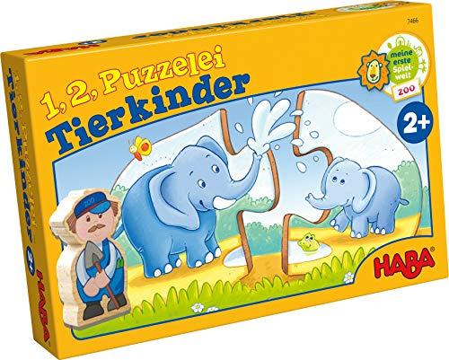 1, 2, Puzzelei - Tierkinder