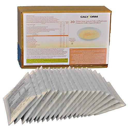 CALYFORM Sopa de Pollo para dieta | 100% saciante | Proteína en polvo para preparar sopa de pollo | Dieta proteica de calidad y aporte en aminoácidos esenciales (20 sobres)