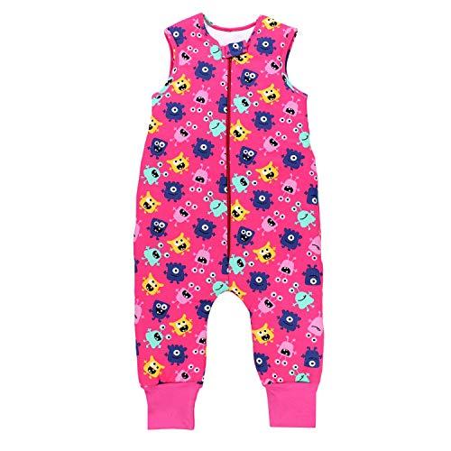 TupTam Baby Unisex Winter Schlafsack mit Beinen, Farbe: Süße Monster Pink, Größe: 104-110