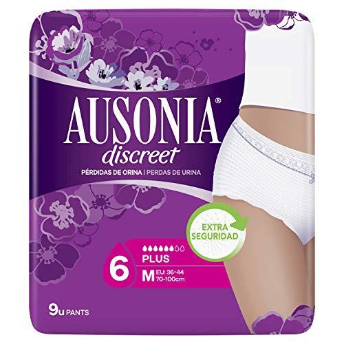 Ausonia Discreet Braguitas Pants M para Pérdidas de Orina - 9 unidades