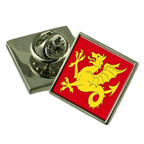 Select Gifts El Condado de Wessex Inglaterra Bandera Insignia de Solapa Pouch