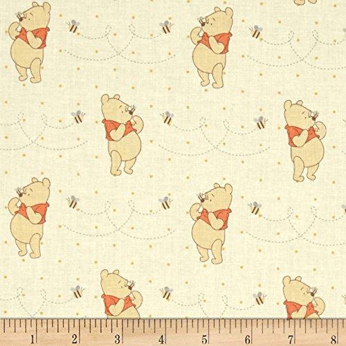 Disney Winnie The Pooh Honeybee Yellow 100% Premium Quality Cotton Fabric by The Yard